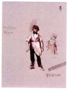 Bozzetto di Lila De Nobili per il personaggio di Mario