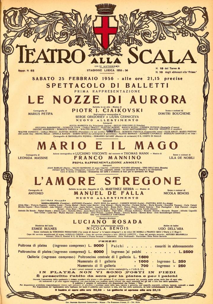 """""""Mario e il mago"""" in cartellone alla Scala di Milano"""